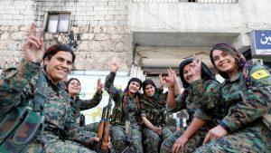 Kurdish women fighters in Syria