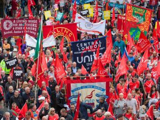Unite the union march against wage cuts