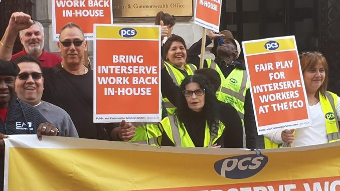 PCS Interserve strikers
