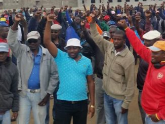 Namibian fishermen demonstrate in Walvis Bary