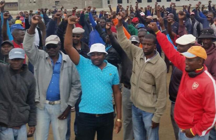 Namibian fishermen demonstrate in Walvis Bary