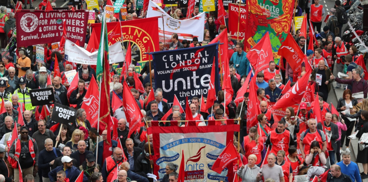 Unite marches on Mayday