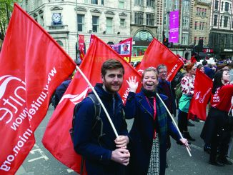 Unite members on May Day