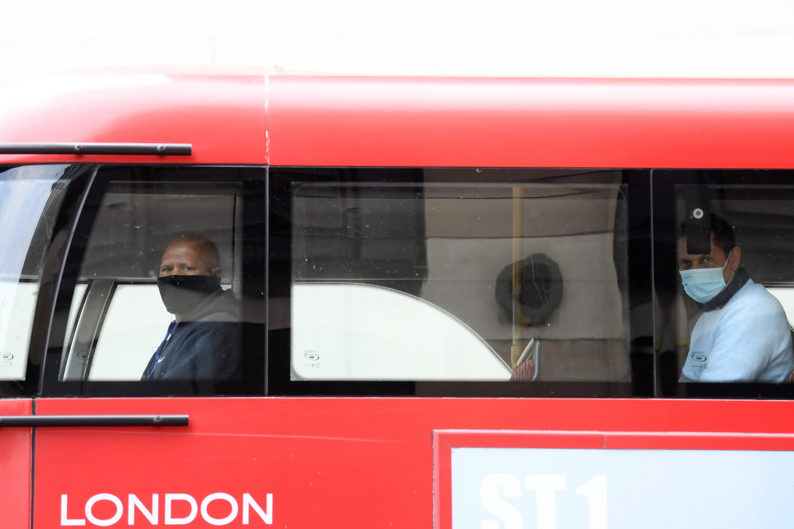 London bus driver during COVID-19