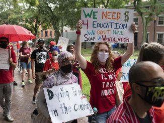 US Education workers strike