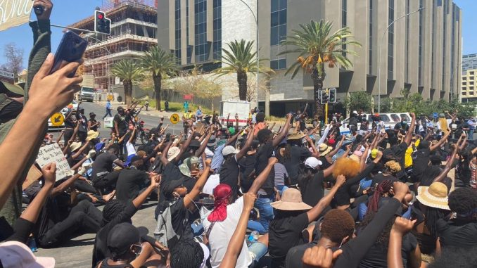 Namibia protest gender-based violence
