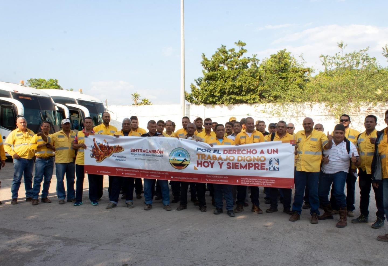 Carrejon miners on strike