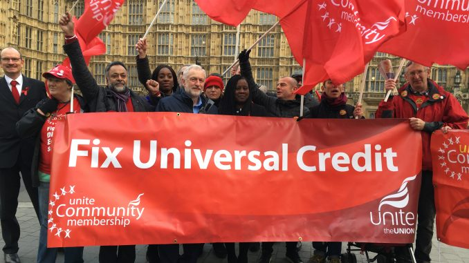 Jeremy Corbyn MP with Unite Community
