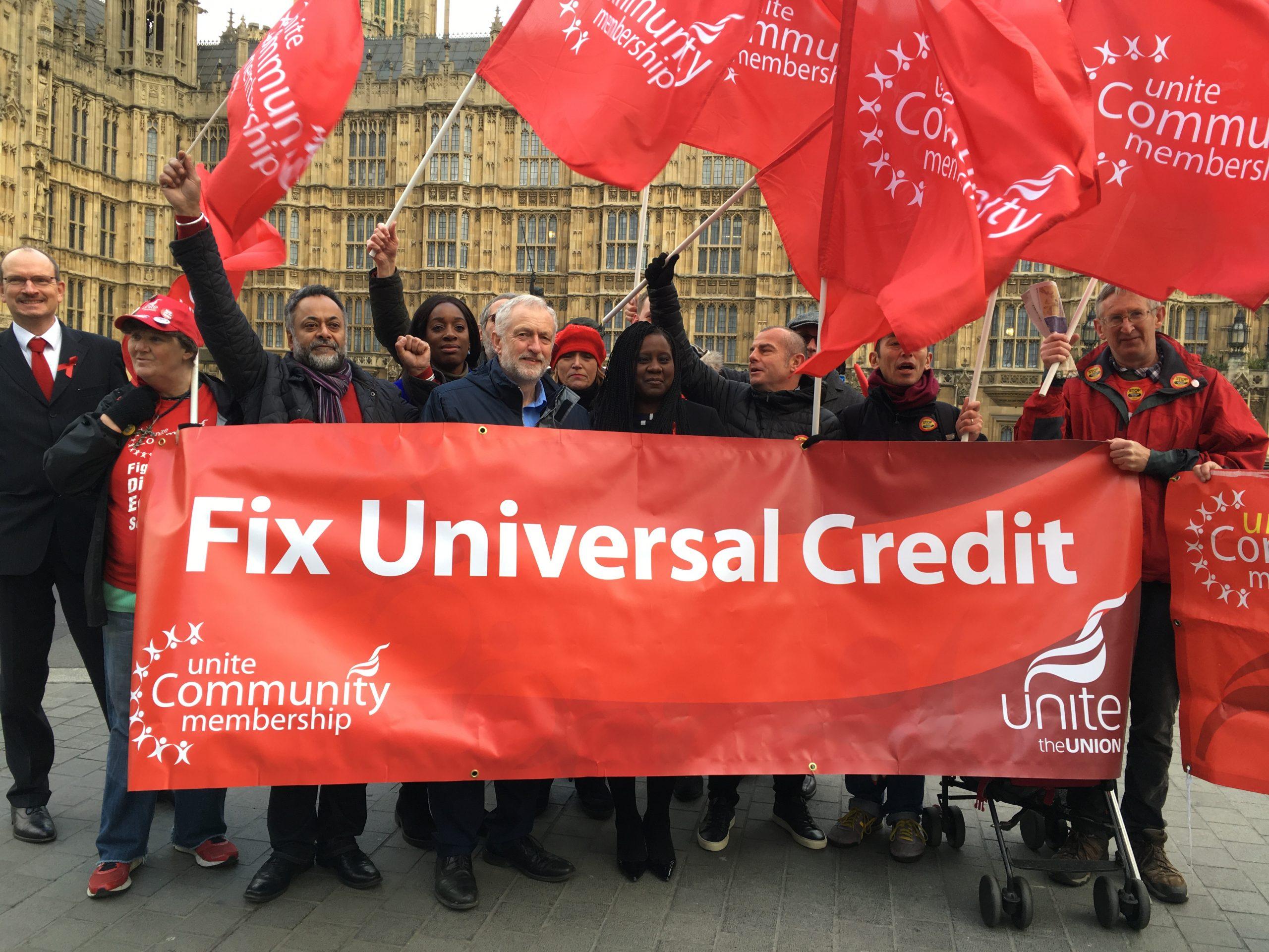 Jeremy Corbyn MP with Unite Community