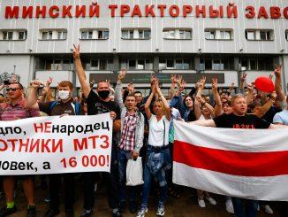 Belarus Tractor workers strike
