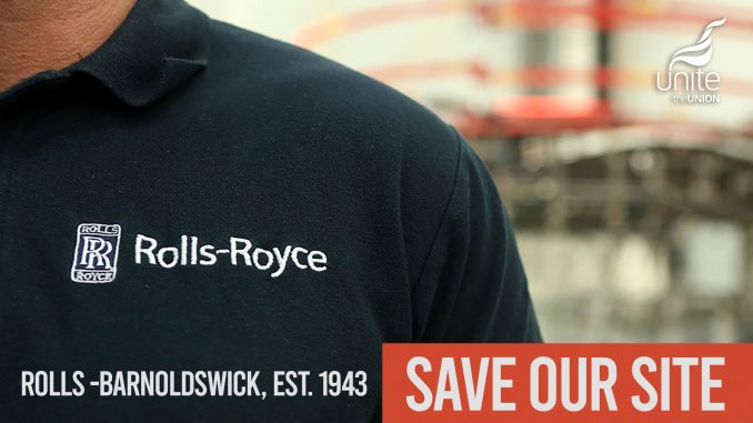 Rolls Royce strike for jobs