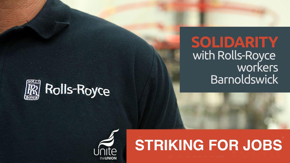 Rolls Royce striking for jobs