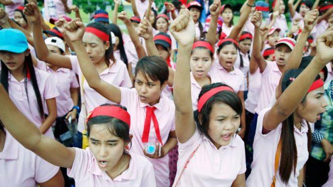 Myanmar garment workers