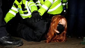 Women arrested at vigil