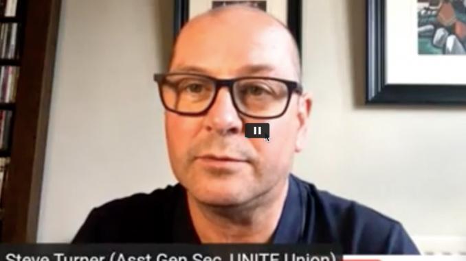 Steve Turner Unite AGS - Owen Jones show