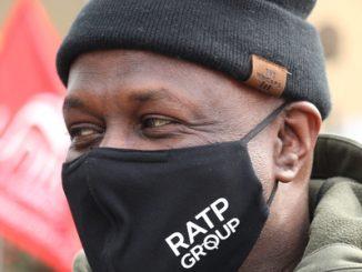 RATP bus drivers on strike