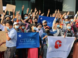 Myanmar trade unions protest