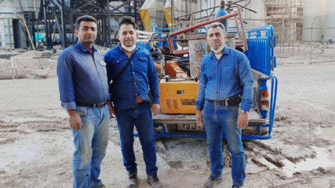 Iranian oil workers