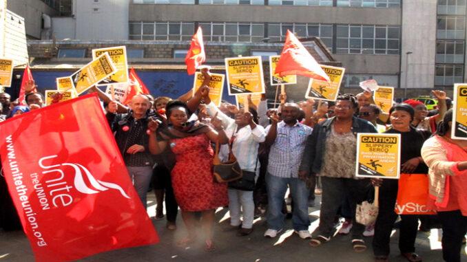 Serco Royal London strikers